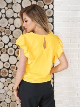 Блузка ISSA PLUS SA-11701i Желтая
