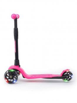 Самокат для дівчинки !Зухвала Леді Style дитячий триколісний безшумне шасі Super-CHASSIS (світяться колеса, 3-колісний) 3 роки гарантії рожевий