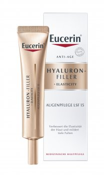 Антивозрастной крем Eucerin для кожи вокруг глаз SPF15 Гиалурон филлер + Еластисити 15 мл (4005800256295)