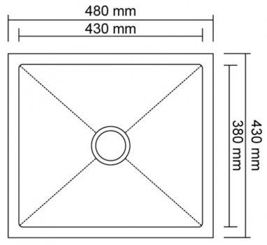 Кухонная мойка Imperial D4843BL PVD black Handmade 2.7/1.0 мм