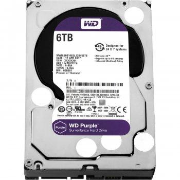 """Дисковий накопичувач внутрішній Western Digital Western Digital 3.5"""" Purple 6TB 3,5"""" SATAIII 5400 об/хв Сріблястий (WD60PURZ)"""