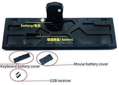 Комплект (Клавиатура + мышь) UKC TJ-808 беспроводная стандартная для ноутбука и ПК + диапазон 10 метров Черный (10034)