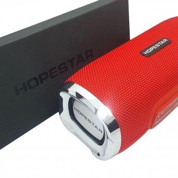 Потужна портативна Bluetooth колонка Hopestar H24 USB FM 10Вт Red