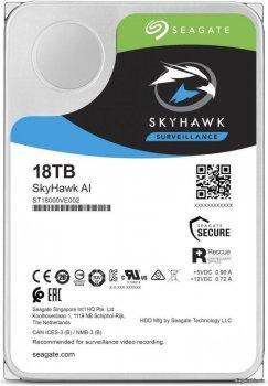 "Жорсткий диск Seagate SkyHawk Al HDD 18 TB 7200 rpm 256 MB ST18000VE002 3.5"" SATAIII"