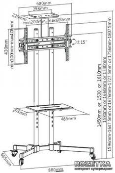 Презентационная стойка ITech T1028B Черная