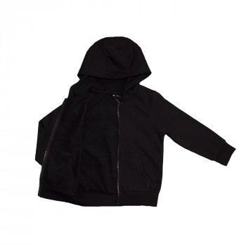 Кофта для мальчика ( 1 шт ) George чёрного цвета на молнии с капюшоном и карманами