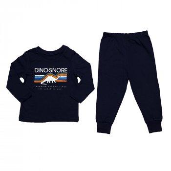 Пижама для мальчика (1 шт) George тёмно-синего цвета с динозаврами и манжетами
