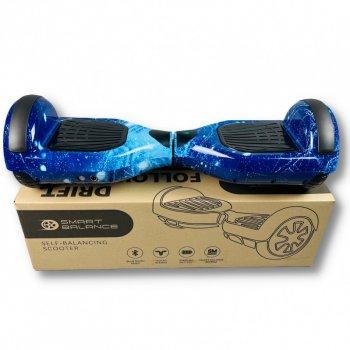 "Гироборд Smart Balance 6,5 дюймов"" PRO 2021 Синий космос АКБ Samsung 4400mAh / 700Вт Bluetooth-колонка и LED — подсветка колес"