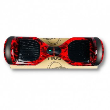 """Гироборд Smart Balance 6,5 дюймов"""" PRO 2021 Красное пламя АКБ Samsung 4400mAh / 700Вт Bluetooth-колонка и LED — подсветка колес"""