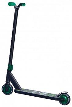 Трюковый самокат Maraton Scorpion с рулевой системой HIC + 2 пеги, зеленый металлик