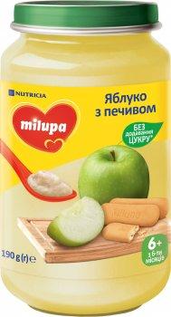 Упаковка дитячого пюре Milupa фруктового Яблуко з печивом з 6 місяців 190 г х 6 шт. (8591119004024)