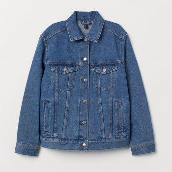 Куртка джинсовая H&M 0678966_син_02 Синяя