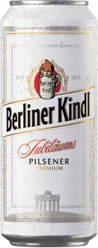 Упаковка пива Berliner Kindl Jubilaums Pilsener світле фільтроване 5.1% 0.5 л х 24 шт. (4053400279114)