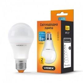 LED лампа VIDEX A60e 8W 4100K E27 220V
