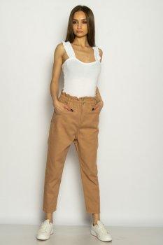 Стильные джинсы с высокой посадкой Time of Style 639F011 коричневый