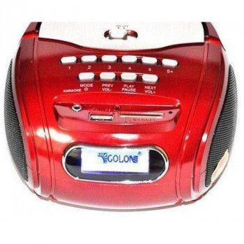 Колонка бумбокс Golon RX 186 MP3 red USB радіо