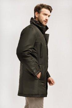 Демисезонная мужская удлиненная куртка Finn Flare 19921008W 601 Коричнево зеленая