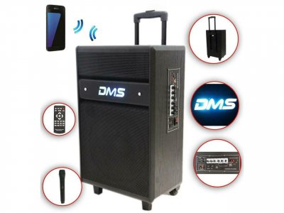 Акустична система DMS K10-12MS (Bluetooth, USB, MP3, Wireless LED)