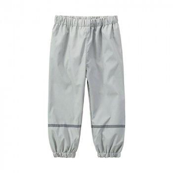 Дитячі штани для хлопчиків X-Mail Брудопруф без утеплювача Світло-сірі