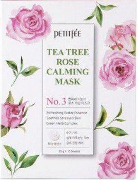 Успокаивающая маска для лица с экстрактом чайного дерева и розы Petitfee Tea Tree Rose Calming Mask 25 г (8809508850535)