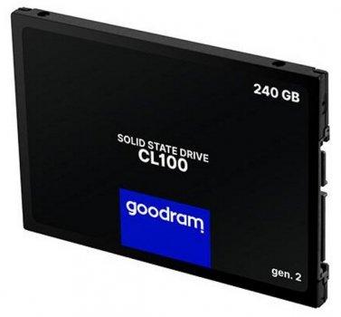"""Твердотільний диск SSD 2.5"""" 240GB Goodram CL100 SATA 3 TLC (SSDPR-CL100-240-G3)"""