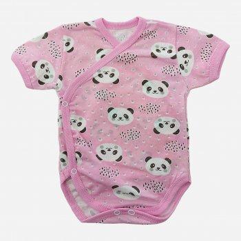 Боди-футболка Малыш style БД-02 Розовый/Панда