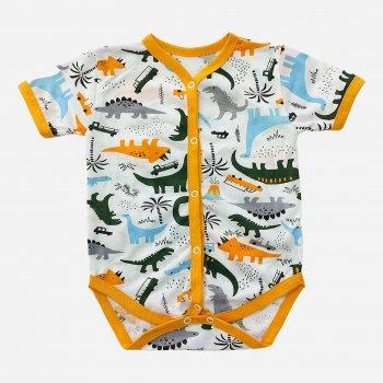 Боди-футболка Малыш style БД-12 Оранж/Дино