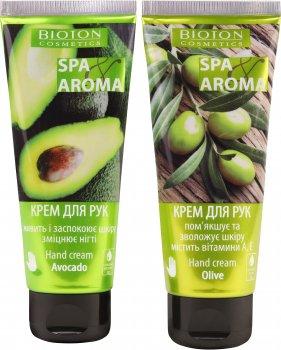 Набор Bioton Cosmetics Крем для рук с оливковым маслом Spa-уход 75 мл + Крем для рук с маслом авокадо Spa-уход 75 мл (4820026154398)