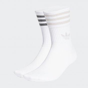 Носки Adidas Mid Cut Glt Sck GN3070 White/Pnktin W 2 пары
