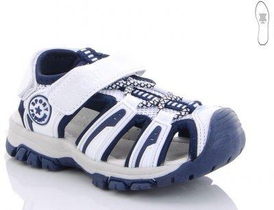 Детские спортивные босоножки для мальчика Sport Fashion Солнце бело-синие