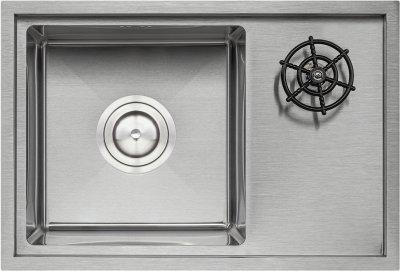 Кухонна мийка QTAP DC5638 Satin 3.0/1.2 мм з кришкою й омивачем (QTDC56383012)