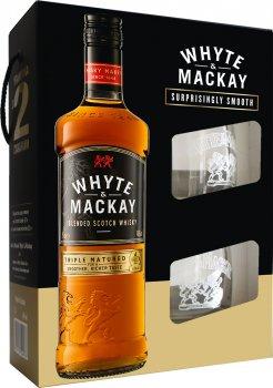 Виски Whyte&Mackay 0.7 л 40% + 2 бокала (4820196540076)