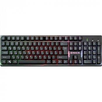 Клавіатура Real-El Comfort 7011 Black