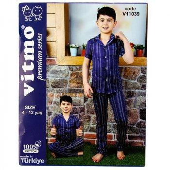 Пижама для мальчика с коротким рукавом VITMO 22110 темно-синий