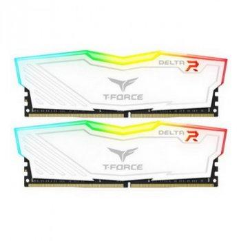 DDR4 2x8GB/3600 Team T-Force Delta White RGB (TF4D416G3600HC18JDC01)