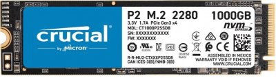 Накопичувач SSD M. 2 1Tb Crucial P2 CT1000P2SSD8 PCIe 3.0x4 (3D-NAND TLC)