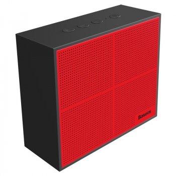 Портативная акустика Baseus Encok Music-Cube Wireless Speaker E05 Red+ Black (NGE05-91)