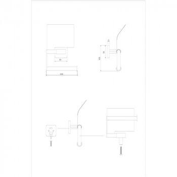 Тримач для туалетного паперу Lidz (CRM) 116.03.01