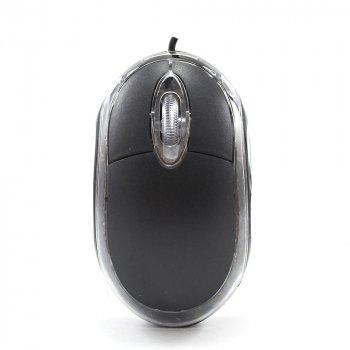 Провідна мишка LESKO для ПК, нетбука, ноутбука, Black