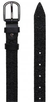 Женский кожаный ремень Laras VN-GEN25W-100x4 Черный (ROZ6206113818)