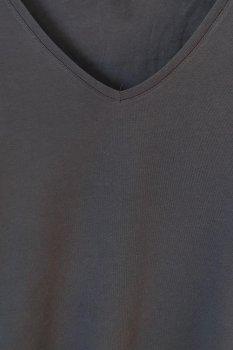 Футболка с треугольным вырезом H&M Синяя (02152480025)