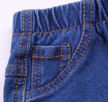 Детские джинсы синие на резинке