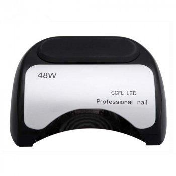 Гибридная ультрафиолетовая LED лампас таймером светодиодная UV Lamp 48 Вт сушилка для маникюра и педикюра Черная