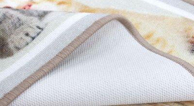 Круглий килим з нейлону на гумовій основі Berni Тигр 100 х 100 см Чорний (47021)