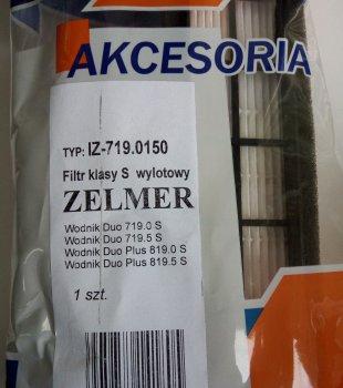 Фільтр НЕРА для пилососів ZINVEST 719.0150