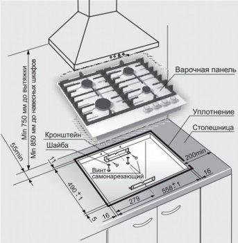 Варочная поверхность газовая GEFEST ПВГ 1214-01 К2