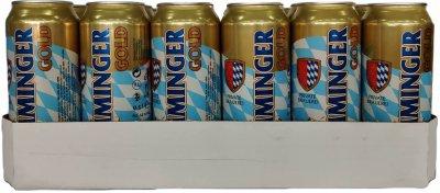 Упаковка пива Memminger Gold светлое фильтрованное 5.3 % 0.5 л х 24 шт (4105230041130G_4260422849892)
