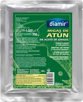 Тунец Diamir в подсолнечном масле 1 кг (8436033874189)