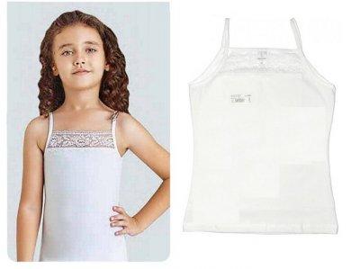 Майка для девочек, 2шт, 4382, Baykar, 05, белый