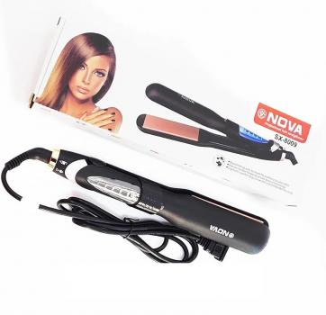 Профессиональный утюжок для выпрямления волос с блокировкой положения NOVA SX-8009